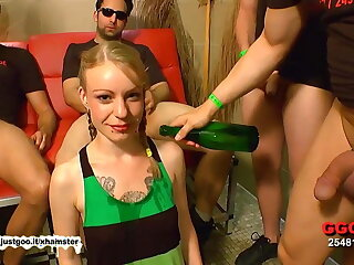 Bukkake and Anal for tiny teen
