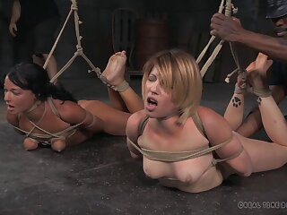 Kay Kardia and London River tied up and tortured by a pervert