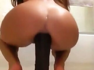 It's exciting to jerk off to her and she loves riding her huge dildo on cam
