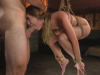 Sweet babe gets ass fucked nigh rough BDSM bondage tryout