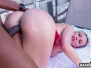 Chesty slut with a heart shapped booty gets soundly fucked by a big black cock