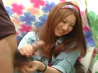 Amateur unsubtle Act ashamed handjob japanese cfnm 2044