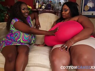 Obese SBBW tribadic here fleshly tits - black tribadic sistas make out