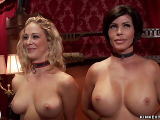 Big-Titted bitches made to sucking and bang group