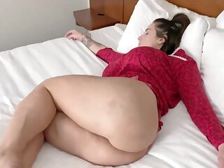 Gorgeous newborn with ample assets is getting assfucked in the middle of the show one's age and enjoying it