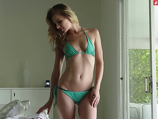 Petite hon with small tits, crazy anal mating and cum heavens face