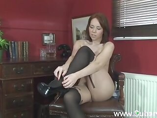 Homemade peerless video be incumbent on dull Ellie Rose bringing off on touching her pussy