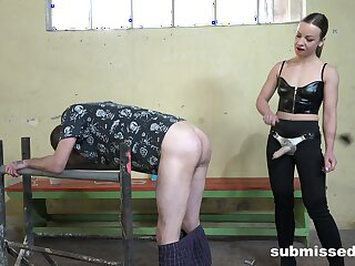 Naughty Lilit Sweet loves pegging a naughty guy in a long toy