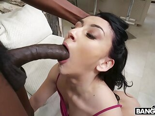 Hot interracial anal sex with luring brunette MILF Mandy Muse