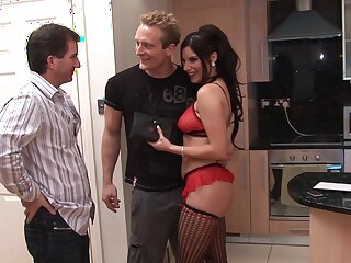 Hardcore MMF threesome encircling a sexy fit together who craves for deep anal