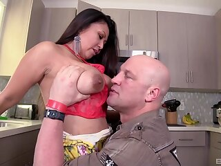 Interracial dicking with a horny housewife - Krystal Davis