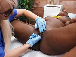 Seductive lesbians provide pure interracial and oral XXX